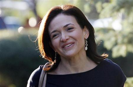 Facebook COO Sheryl Sandberg arrives for the first session of the annual Allen and Co. conference at the Sun Valley, Idaho Resort July 10, 2013. REUTERS/Rick Wilking/Files