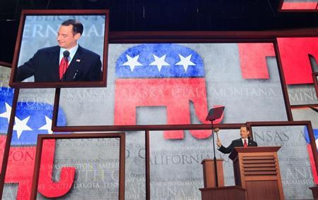 Republican National Committee Chairman Reince Priebus gavels the opening of the second session of the 2012 Republican National Convention in Tampa, Florida, August 28, 2012. REUTERS/Shannon Stapleton