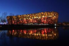 Estádio Nacional da China, também conhecido como Ninho do Pássaro, que vai receber amistoso da seleção brasileira em outubro. Foto tirada em 23 de março de 2013. REUTERS/Stringer
