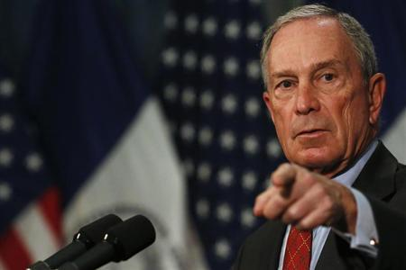 New York City Mayor Michael Bloomberg gestures while speaking to the media about a judge's ruling on ''stop and frisk'' at City Hall in New York August 12, 2013. REUTERS/Brendan McDermid