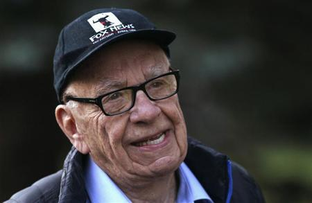 Rupert Murdoch, News Corp. and 21st Century Fox CEO, arrives at the annual Allen and Co. conference at the Sun Valley, Idaho Resort July 12, 2013. REUTERS/Rick Wilking
