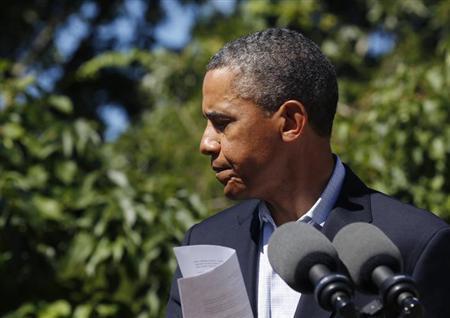 8月15日、エジプトの治安部隊によるデモ隊強制排除で多数の死者が出たことを受けて、オバマ米大統領は、来月のエジプト軍との合同軍事演習を中止すると発表した(2013年 ロイター/Larry Downing)