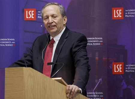 Former U.S. Treasury Secretary Lawrence H. ''Larry'' Summers speaks during a financial and economic event at the London School of Economics (LSE) in London March 25, 2013. REUTERS/Jason Alden/POOL