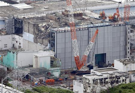 An aerial view shows the No.3 reactor building at Tokyo Electric Power Co. (TEPCO)'s tsunami-crippled Fukushima Daiichi nuclear power plant in Fukushima Prefecture, in this photo taken by Kyodo July 18, 2013. REUTERS/Kyodo