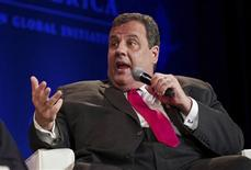 New Jersey Governor Chris Christie speaks during the Clinton Global Initiative America meeting in Chicago, Illinois, in this file photo taken June 14, 2013. REUTERS/John Gress/Files