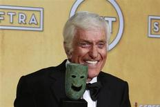 Actor Dick Van Dyke Life holds his award backstage after recieving the life achievement award at the 19th annual Screen Actors Guild Awards in Los Angeles, California January 27, 2013. REUTERS/Adrees Latif
