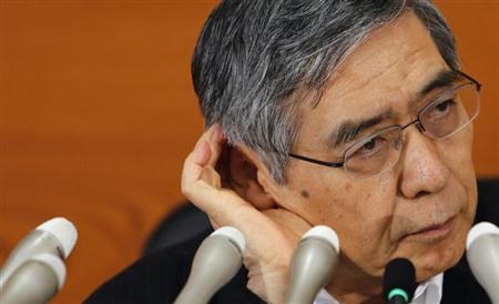 Bank of Japan Governor Haruhiko Kuroda listens a question during a news conference in Tokyo August 8, 2013. REUTERS/Yuya Shino