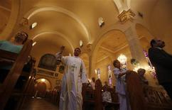 Christians attend Sunday service in the Basilica of our Lady of Fatima in Cairo August 18, 2013. REUTERS/Amr Abdallah Dalsh