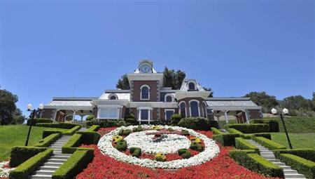 A general view of the train station at Michael Jackson's Neverland Ranch in Los Olivos, California July 3, 2009. REUTERS/Phil Klein/Files