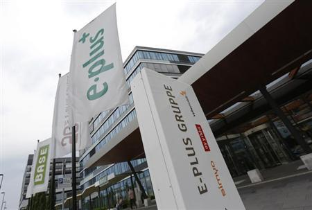 The headquarters of German mobile phone operator E-Plus Group is pictured in Duesseldorf July 24, 2013. REUTERS/Wolfgang Rattay