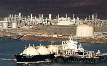The Woodside Petroleum Karratha Gas Plant on the North West Shelf Venture in Western Australia is seen in this undated handout photograph obtained July 24, 2009. REUTERS/Woodside Petroleum Ltd/Handout