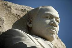 The Martin Luther King Jr. Memorial is seen free of its scaffolding in Washington August 20, 2013. REUTERS/Kevin Lamarque
