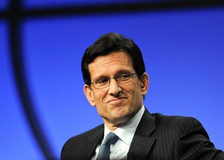 U.S. Congressman and House Majority Leader Eric Cantor (R-VA) takes part in a panel discussion titled ''The Awesome Responsibility of Leadership'' at the Milken Institute Global Conference in Beverly Hills, California April 29, 2013. REUTERS/Gus Ruelas