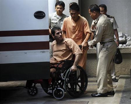 Iranian Saeid Moradi arrives at Bangkok South Criminal Court December 21, 2012. REUTERS/Chaiwat Subprasom/Files