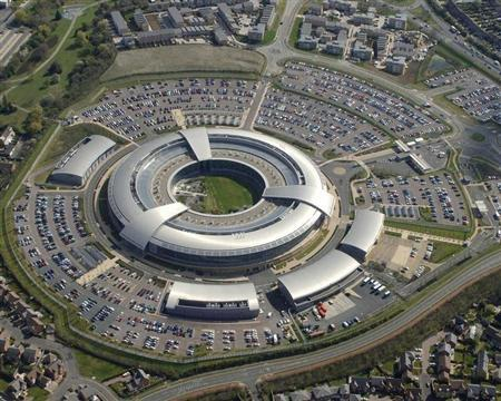 Britain's Government Communications Headquarters (GCHQ) in Cheltenham is seen in this undated handout aerial photograph released in London on October 18, 2010. REUTERS/Crown Copyright/Handout (