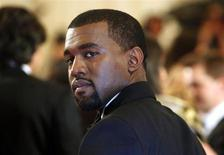 "Actor Kanye West arrives at the Metropolitan Museum of Art Costume Institute Benefit celebrating the opening of the exhibition ""Alexander McQueen: Savage Beauty"" in New York May 2, 2011 file photo. REUTERS/Eric Thayer"