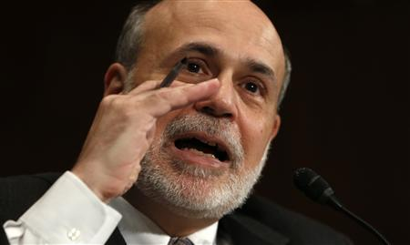 Federal Reserve Board Chairman Ben Bernanke testifies before a Senate Banking, Housing and Urban Affairs Committee hearing on ''The Semiannual Monetary Policy Report to the Congress'' on Capitol Hill in Washington July 18, 2013. REUTERS/Kevin Lamarque