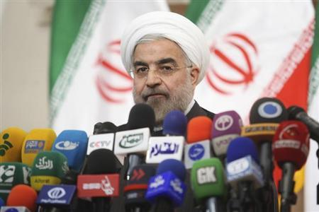 Iranian President-elect Hassan Rohani speaks with the media during a news conference in Tehran June 17, 2013. REUTERS/Fars News/Majid Hagdost