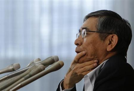 Bank of Japan Governor Haruhiko Kuroda speaks during a news conference in Tokyo August 8, 2013. REUTERS/Yuya Shino