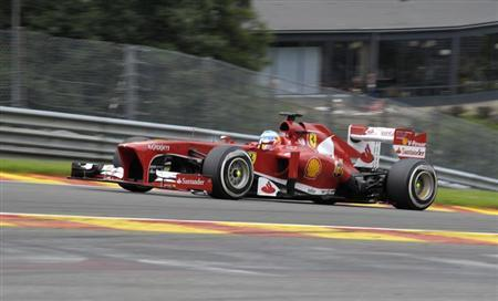 Ferrari Formula One driver Fernando Alonso of Spain drives during the Belgian F1 Grand Prix at the Circuit of Spa-Francorchamps August 25, 2013. REUTERS/Laurent Dubrule