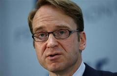 Bundesbank chief Jens Weidmann gives a keynote speech at the Federation of European Securities Exchanges (FESE) convention in Berlin June 27, 2013. REUTERS/Fabrizio Bensch