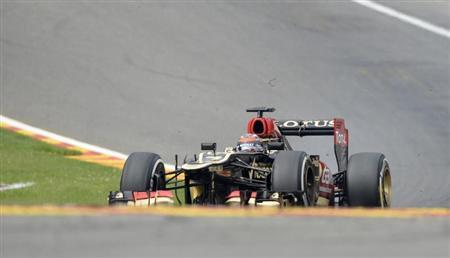 Lotus Formula One driver Kimi Raikkonen of Finland drives during the Belgian F1 Grand Prix at the Circuit of Spa-Francorchamps August 25, 2013. REUTERS/Laurent Dubrule