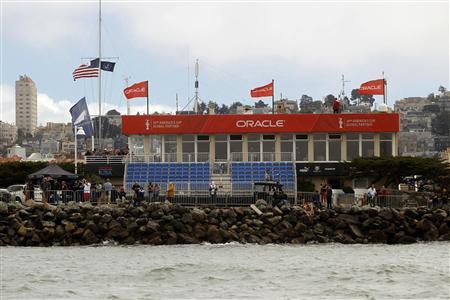 Empty seats are pictured at a viewing grandstand during the 30th anniversary Louis Vuitton Cup Final on San Francisco Bay, California, August 25, 2013. REUTERS/Robert Galbraith