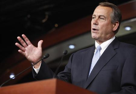 U.S. House Speaker John Boehner (R-OH) speaks during a news conference at the U.S. Capitol in Washington, June 20, 2013. REUTERS/Jonathan Ernst