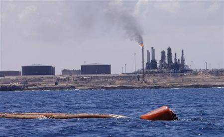 A general view of the port and Zawiya Oil Refinery, 55 km (34 miles) west of the city of Tripoli August 22, 2013. REUTERS/Ismail Zitouny