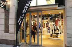 A Billabong employee opens the company store in central Sydney August 27, 2012. REUTERS/Daniel Munoz