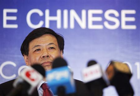 China's Vice Finance Minister Zhu Guangyao addresses the media during a news conference at a hotel in Los Cabos June 17, 2012. REUTERS/Stringer