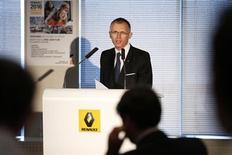 """Carlos Tavares, le directeur général délégué de Renault, va quitter ce jeudi la marque au losange, afin de """"poursuivre des projets personnels"""". /Photo prise le 26 juillet 2013/REUTERS/Benoît Tessier"""