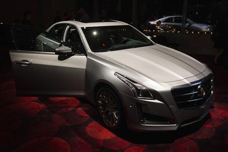A 2014 Cadillac CTS sedan is displayed during an unveiling ceremony in New York, March 26, 2013. REUTERS/Lucas Jackson
