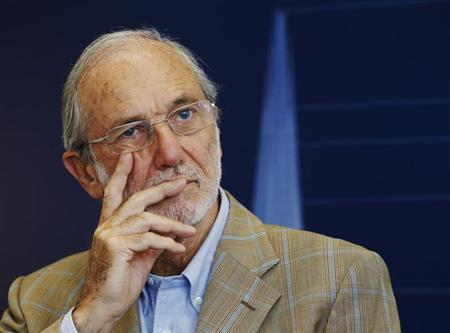 Italian architect Renzo Piano, designer of the Shard skyscraper, attends a news conference at the Shard in London July 4, 2012. REUTERS/Luke MacGregor