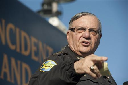 Maricopa County Sheriff Joe Arpaio announces newly launched program aimed at providing security around schools in Anthem, Arizona, January 9, 2013. REUTERS/Laura Segall