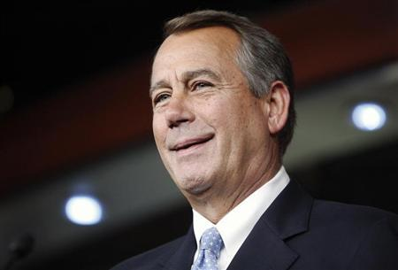 U.S. House Speaker John Boehner (R-OH) smiles during a news conference at the U.S. Capitol in Washington, June 20, 2013. REUTERS/Jonathan Ernst