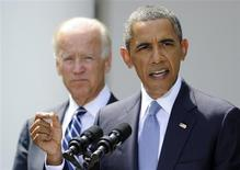 Presidente norte-americano Baack Obama discursa na Casa Branca, em Washington. Obama, afirmou neste sábado que decidiu que o país deve adotar uma ação militar contra alvos do governo sírio, mas ressaltou que irá buscar a aprovação do Congresso norte-americano antes de fazê-lo. 31/08/2013 REUTERS/Mike Theiler