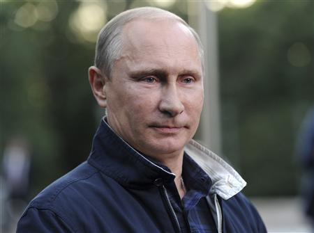 Russia's President Vladimir Putin looks on during a meeting with journalists in the far eastern city of Vladivostok, August 31, 2013. REUTERS/Alexei Nikolskyi/RIA Novosti/Kremlin