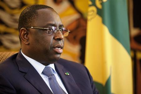 Senegalese President Macky Sall speaks during an interview at the presidential palace in Dakar June 28, 2013. REUTERS/Joe Penney