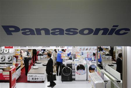 Panasonic Corp's Logo is pictured at an electronics store in Tokyo March 28, 2013. REUTERS/Yuya Shino