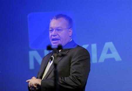 Former Nokia CEO Stephen Elop speaks during the news conference of the Finnish mobile phone manufacturer Nokia in Espoo, September 3, 2013. REUTERS/Markku Ulander/Lehtikuva