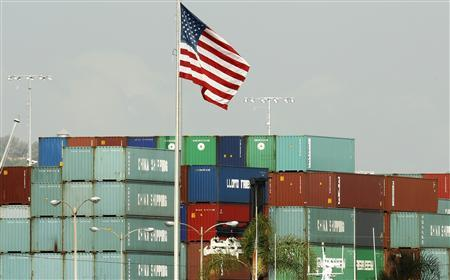 China Shipping containers lie on the dock after being imported to the U.S. in Los Angeles, California, October 7, 2010. REUTERS/Lucy Nicholson