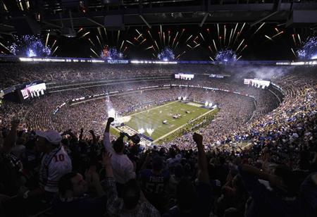 A 2012 file photo shows an overall view of the Metlife Stadium in East Rutherford, New Jersey during the NFL's opening game for the season. REUTERS/Ray Stubblebine