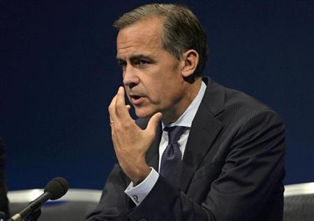 Bank of England governor Mark Carney gestures during a news conference after addressing business leaders in Nottingham, central England August 28, 2013. REUTERS/Nigel Roddis/Pool