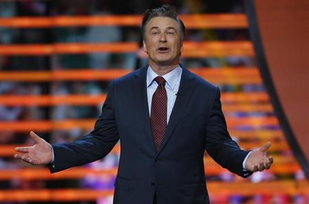 Host Alec Baldwin speaks during the NFL Honors award show in New Orleans, Louisiana February 2, 2013. REUTERS/Jeff Haynes