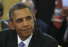 O presidente dos EUA, Barack Obama, comparece à primeira sessão da cúpula do G20 no Palácio de Constantine em Strelna, próximo a São Petersburgo, Rússia. 5/09/2013 REUTERS/Sergei Karpukhin