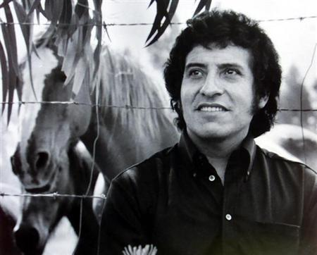 Chilean singer Victor Jara is seen in this undated file picture.
