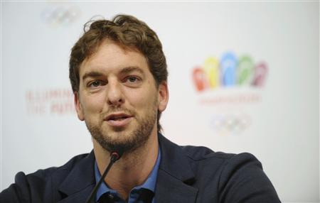Spain's basketball player Pau Gasol attends a news conference in Buenos Aires September 5, 2013. REUTERS/Charly Diaz Azcue