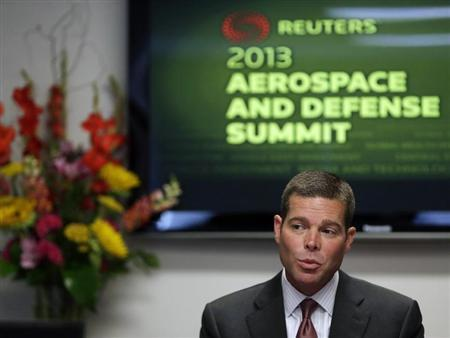 United Continental Airlines CFO John Rainey speaks during the Reuters Aerospace and Defense Summit in Washington September 5, 2013. REUTERS/Gary Cameron