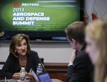 Aerospace Industries Association CEO Marion Blakey attends the Reuters Aerospace and Defense Summit in Washington September 5, 2013. REUTERS/Gary Cameron
